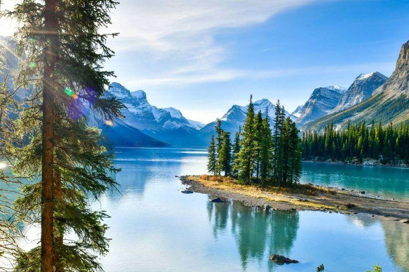 Why Canada | Spirit Island in Maligne Lake Jasper National Park Alberta | Canada visa application