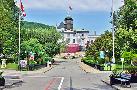 Streetview outside of McGill University campus