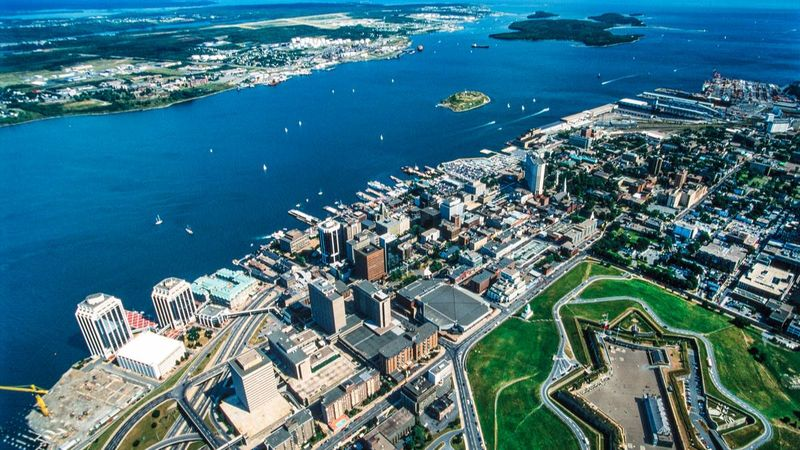 Aerial view of New Brunswick, Canada
