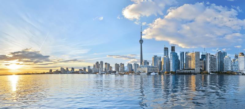 panorama of Toronto, Ontario, Canada