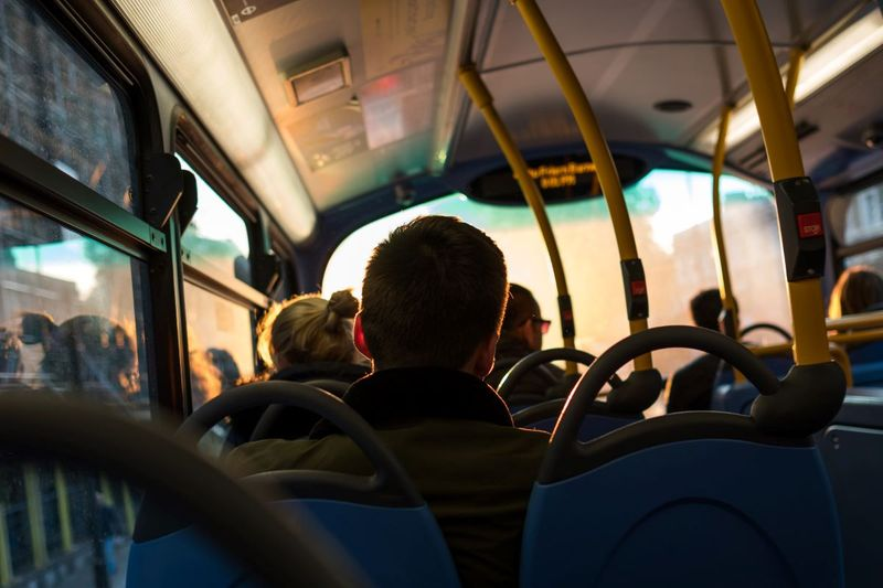Person in a bus