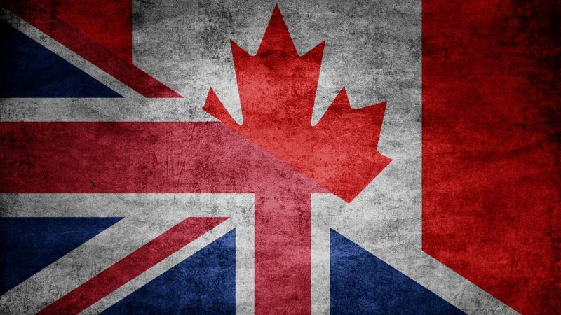 UK-and-Canadian-flag  | immigrate to Canada from the UK
