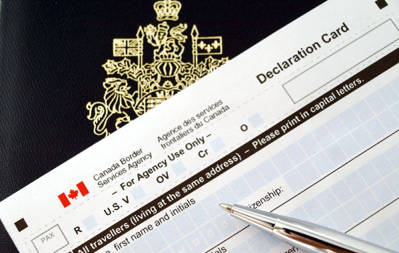 Canadian application document
