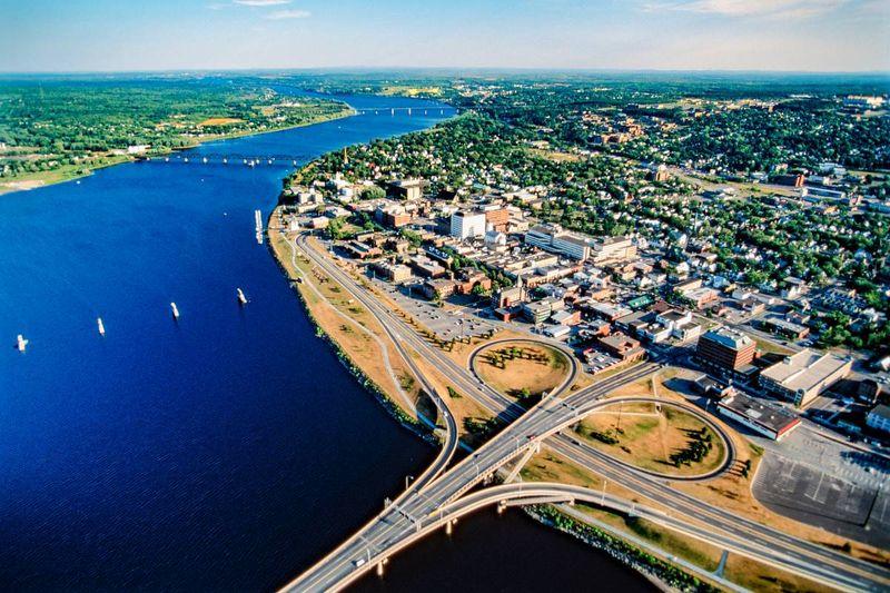 Aerial Fredericton New Brunswick Move to Canada
