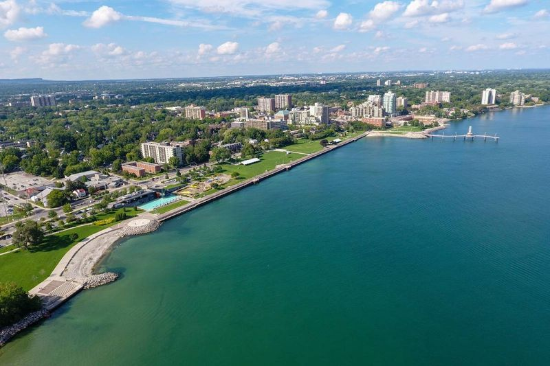 aerial view of downtown Burlington Ontario |  settle in Canada