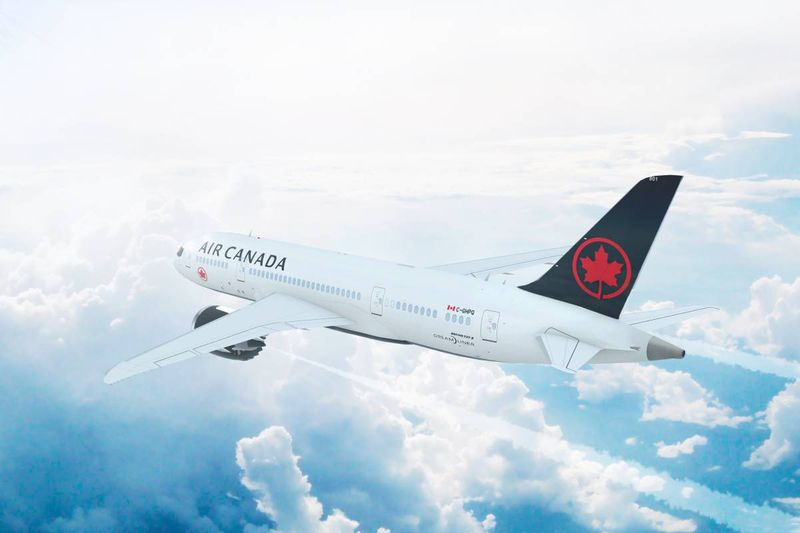 airplane flying in sky to Canada maple leaf | how to immigrate to Canada