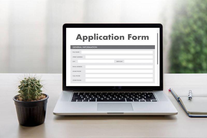 application form plant laptop