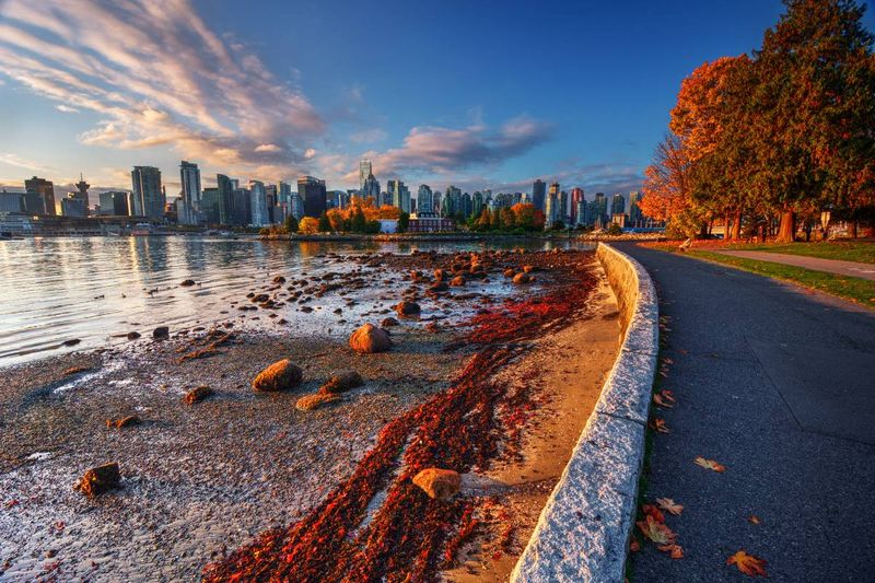 river bank-in-Vancouver-British-Columbia-Canada |  settle in Canada