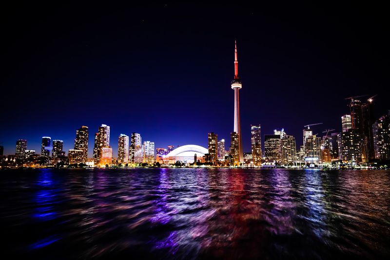Canada Toronto lake city night | migrate to Canada