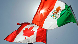 Flag of Mexico and Canada