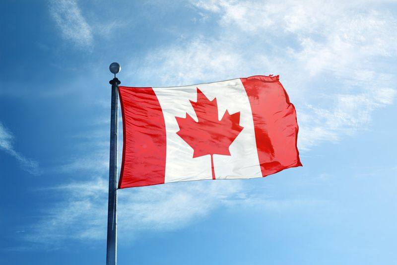 Wave the Canadian flag for work in Canada.