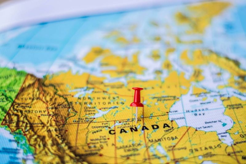 Canada map pin | immigrate to Canada