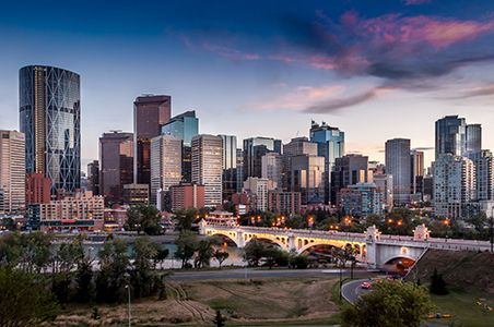Down town area of Calgary city