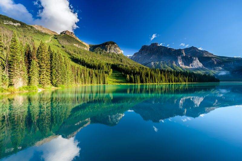 Visit Emerald lake in Canada when you immigrate using Express Entry.