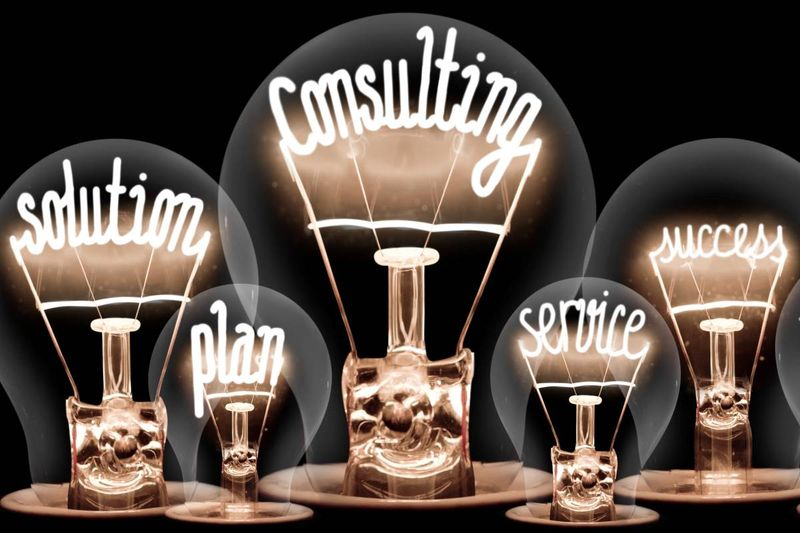 solution consulting plan success service light bulbs