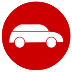 red and white car icon