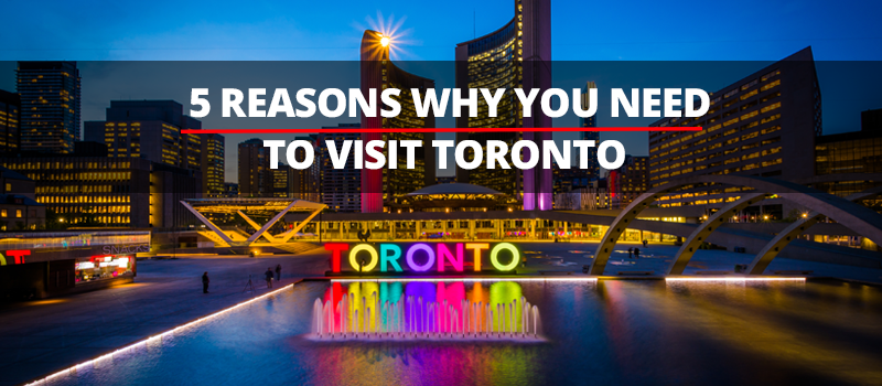 There are many things that make Toronto a great city to visit, we have 5 reasons why you should. Toronto is steeped in history, great art scene, film festivals, and sample diverse food cuisine from all over the world.