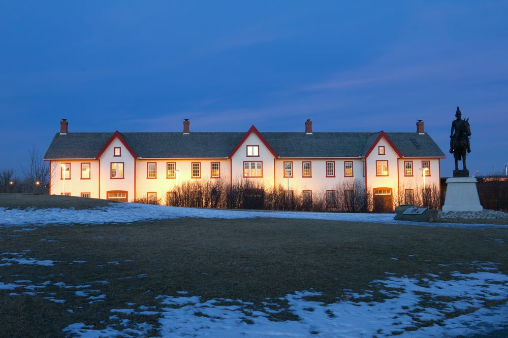 Fort Calgary at night