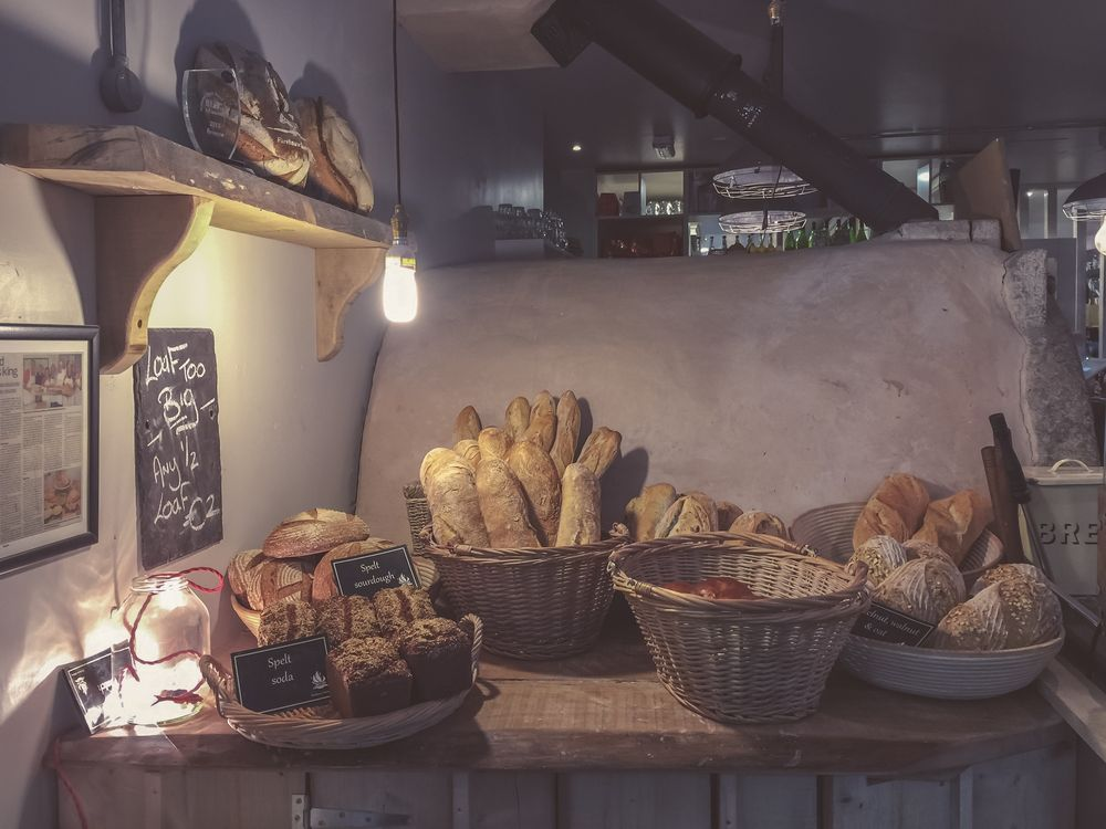 lovely bakery with fresh bread