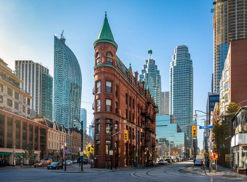 Flatiron building downtown Toronto Ontario Canada |  how to apply for a visa to Canada from the Dominican Republic
