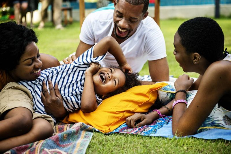 happy African family in park |  how to apply for a Canada visa from Cameroon