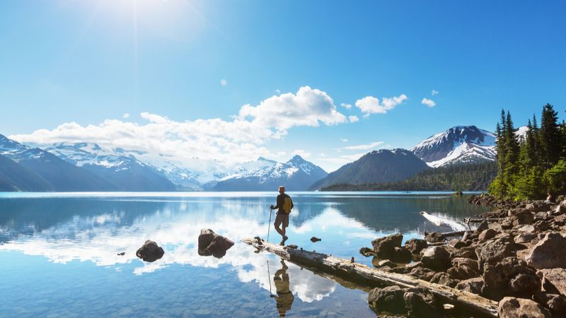 hiker at lake-immigrate to Canada