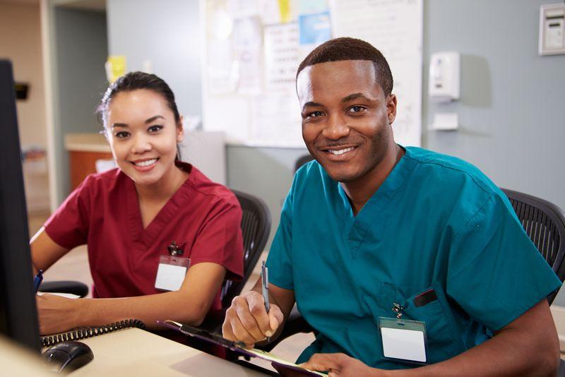 physicians at work desk