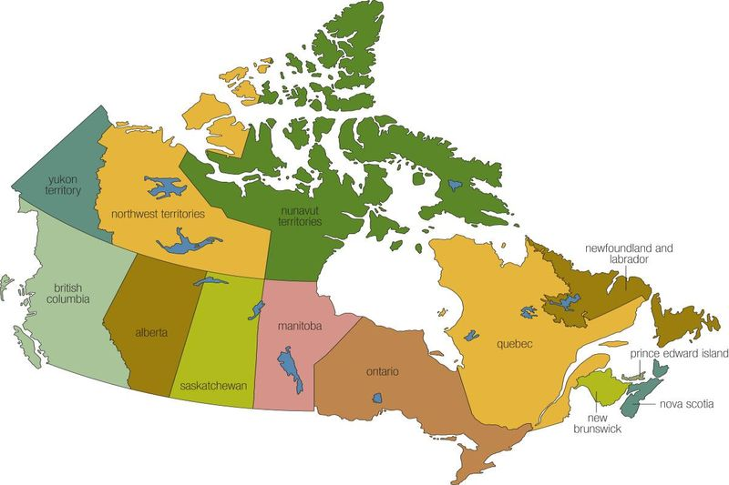 map of Canada | migrate to Canada