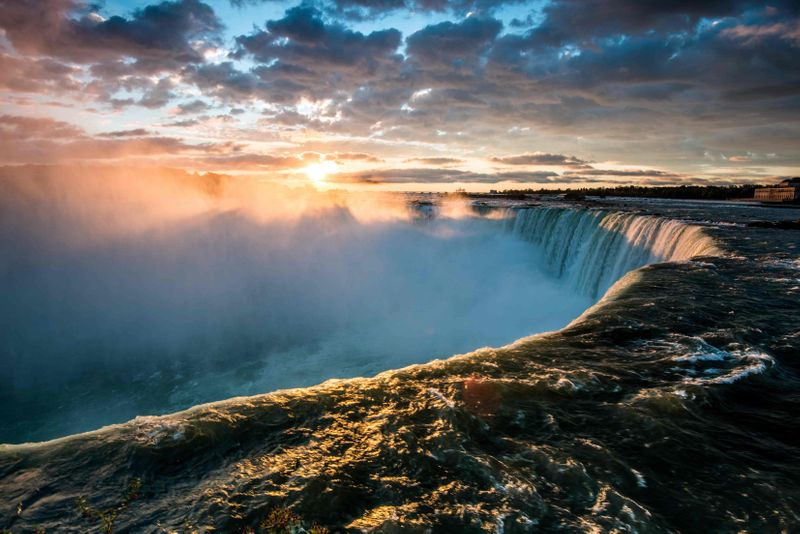 Visit Niagara falls when you immigrate to Ontario.