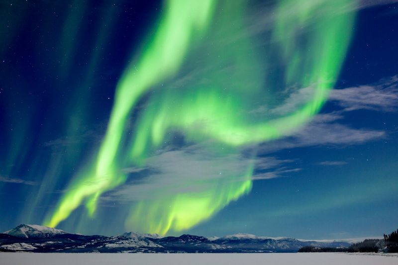 northern lights of Canada in Whitehorse