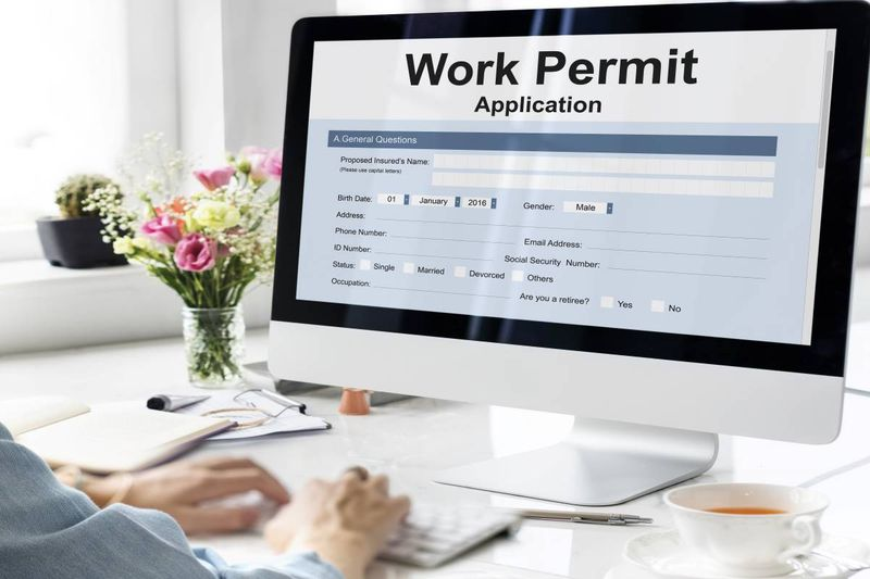 online work permit application computer screen | jobs in Canada 2020