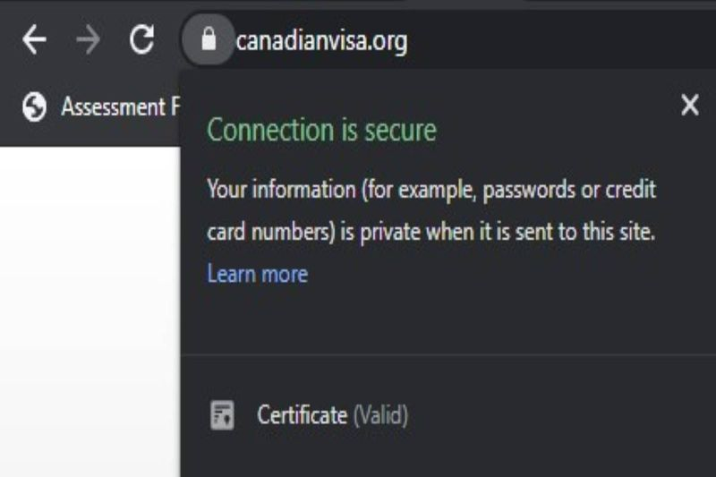padlock-canadian-visa-secure-url | scam or real