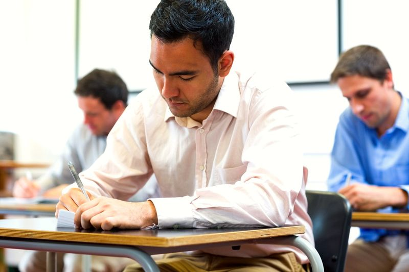 people writing exams