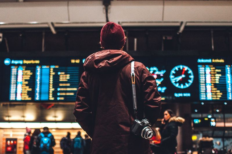 Man waiting in the airport