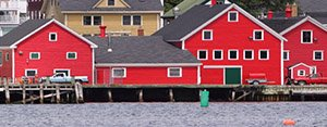 Scenic harbour in Prince Edward Island, Canada