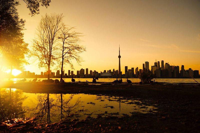 Toronto skyline at sunrise Canada | Coronavirus crisis