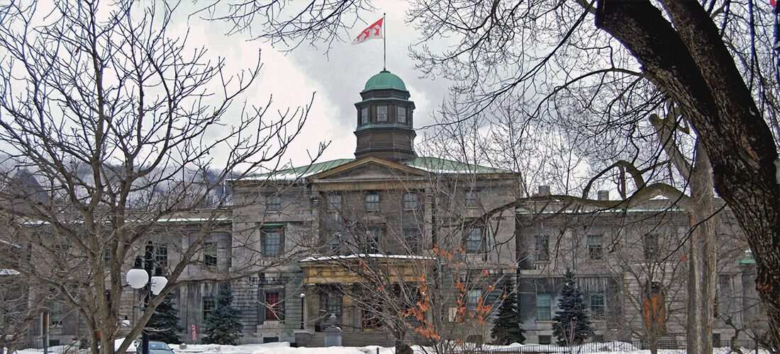 McGill University during winter season