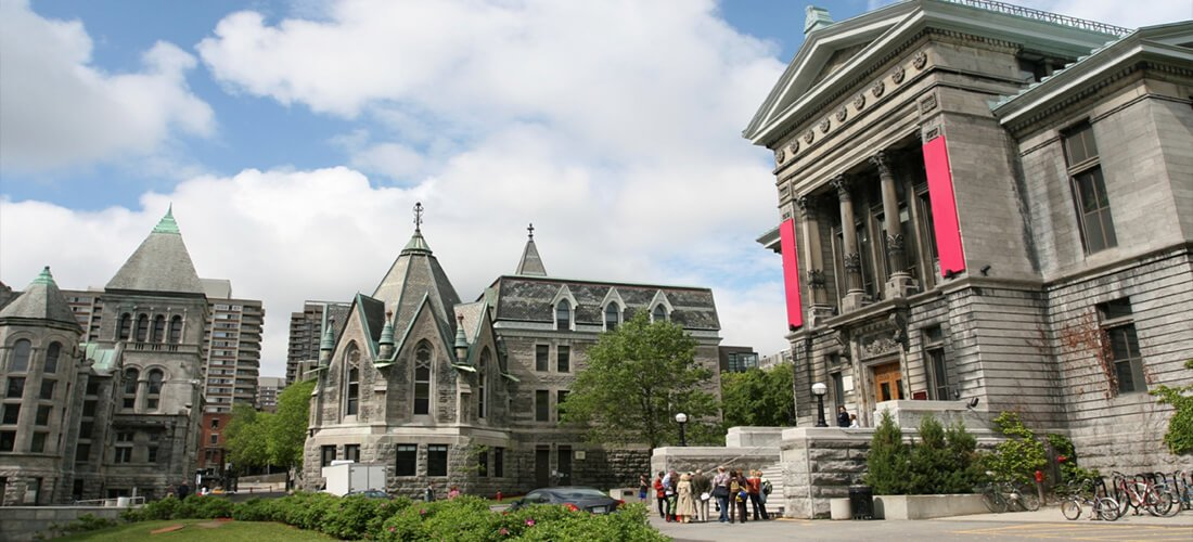 Front entrance to McGill administration hall