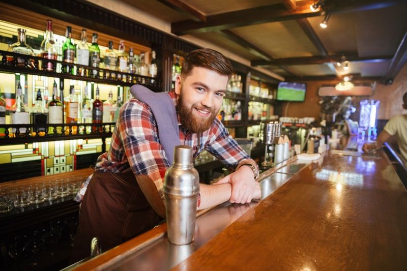 happy bartender