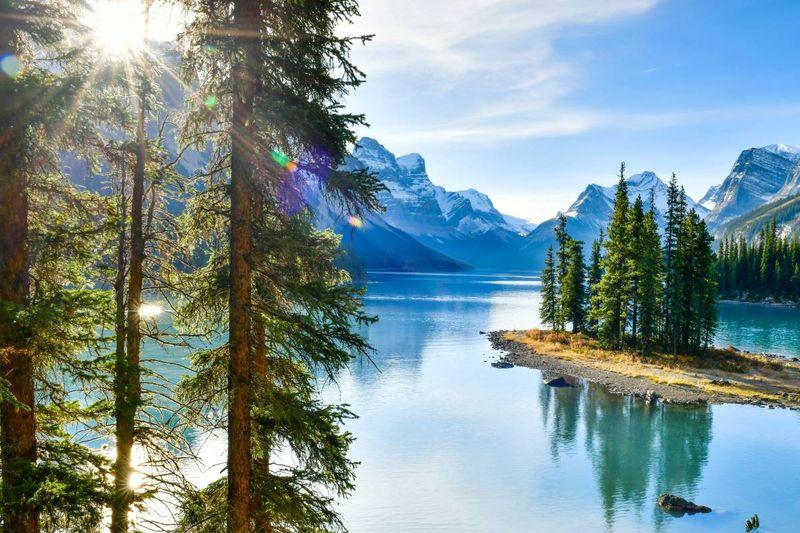Maligne Lake Jasper National Park Alberta Canada   Canadian permanent residence