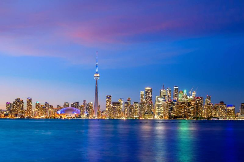 Toronto skyline at sunset Ontario Canada |  how to apply for a Canada visa from the Democratic Republic of Congo