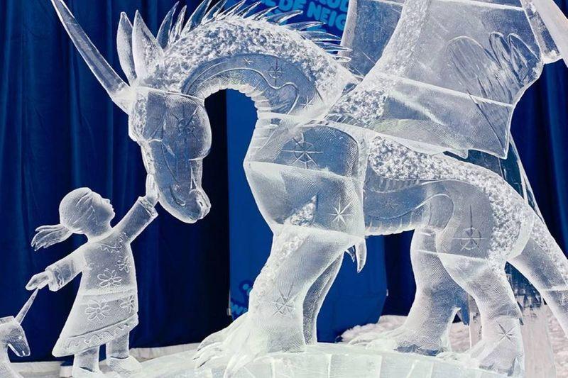 Winterlude ice sculpture